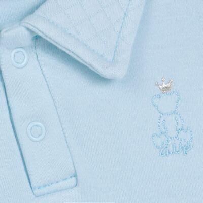 Imagem 3 do produto Body longo com Calça (mijão) em suedine Azul Matelassê - Grow Up - 01020218.0003 CONJ. PG BEAR FRIEND AZUL-M