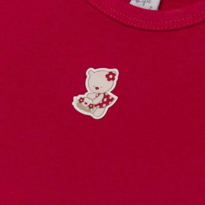Imagem 3 do produto Body curto com Shorts para bebe em suedine Flowery Bear - Vicky Lipe - CSH1360 BODY M/C C/ SHORTS SUEDINE URSA FLORAL-M