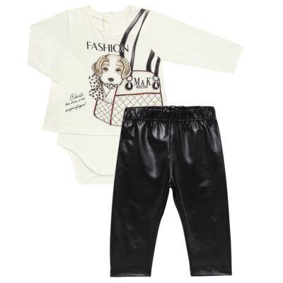Imagem 1 do produto Body Bata com Legging para bebe cirré Fashion Glam - Mini & Kids - CJVL0001.233 CONJ.BODY C/LEGGING - VISCONFORT-P