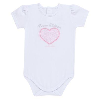 Imagem 2 do produto Body curto com Calça (mijão) para bebe em spandex Ballerine - Mini & Kids - CTU1356 BODY MC E MIJÃO C/BABADO TULE EXPAND BALLET-GG