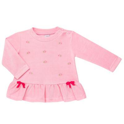 Imagem 2 do produto Bata com Calça para bebe em plush Little Roses - Baby Classic - 976881.218 CONJUNTO BATA COM CALÇA - PLUSH ROSA-1