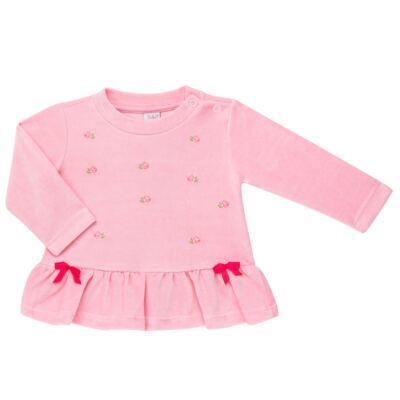 Imagem 2 do produto Bata com Calça para bebe em plush Little Roses - Baby Classic - 976881.218 CONJUNTO BATA COM CALÇA - PLUSH ROSA-2