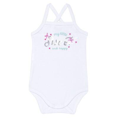 Imagem 2 do produto Body com Saia para bebe em malha Little Cute - Vicky Lipe - 23991362 BODY C/ SAIA MALHA ELEFANTINHO-P