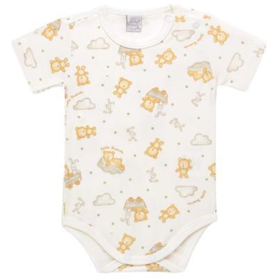 Imagem 1 do produto Body curto para bebe em suedine Naturé - Baby Classic - BSM511.294 BODY M/C AVULSO - SUEDINE CAQUI-RN