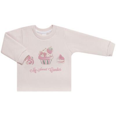 Imagem 2 do produto Blusão com Calça para bebe em moletom Cupcake - Mini Mix - LTCM03 CONJUNTO MOLETOM CUPCAKE ROSA BB/CORAL-2