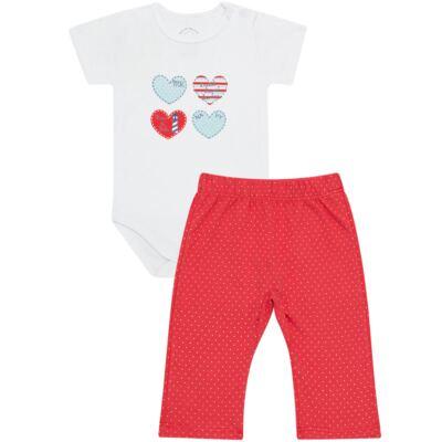 Imagem 1 do produto Body curto com Calça para bebe em Pima Cotton Supreme Sailor Girl - Mini & Kids - CBCC541 BODY M/C COM CALCA SUEDINE NAVY-G