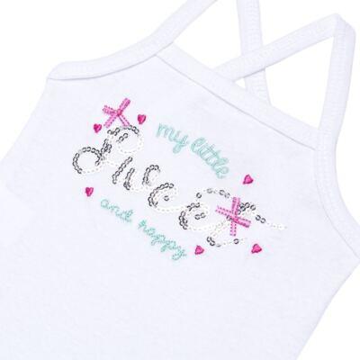Imagem 3 do produto Body com Saia para bebe em malha Little Cute - Vicky Lipe - 23991362 BODY C/ SAIA MALHA ELEFANTINHO-G