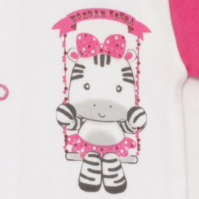 Imagem 2 do produto Body curto para bebe em suedine Zebrinha - Vicky Lipe - 937329 BODY MC COM ABERTURA SUEDINE ZEBRA-RN