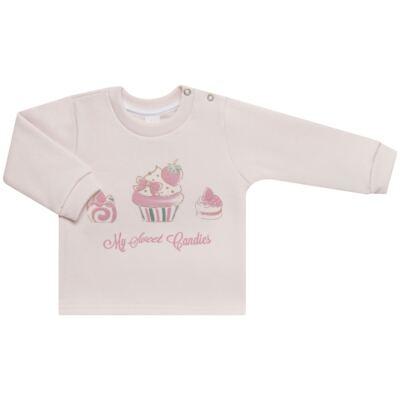 Imagem 2 do produto Blusão com Calça para bebe em moletom Cupcake - Mini Mix - LTCM03 CONJUNTO MOLETOM CUPCAKE ROSA BB/CORAL-M