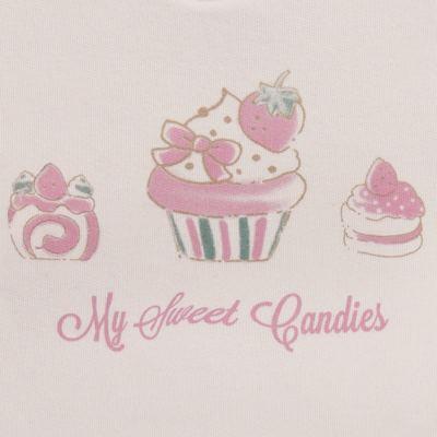 Imagem 3 do produto Blusão com Calça para bebe em moletom Cupcake - Mini Mix - LTCM03 CONJUNTO MOLETOM CUPCAKE ROSA BB/CORAL-1