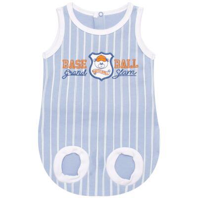 Imagem 1 do produto Banho de sol para bebe em suedine Baseball Cup - Vicky Lipe - 906767 BANHO DE SOL REGATA SUEDINE BASEBALL 2-P