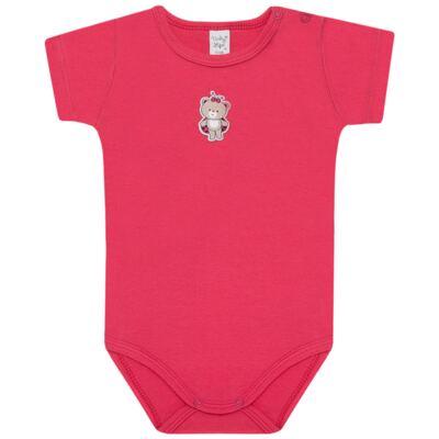Imagem 2 do produto Body curto com Shorts para bebe em suedine Ladybug - Vicky Lipe - CSH562 CJ. BODY MC C SHORT SUEDINE URSA-G