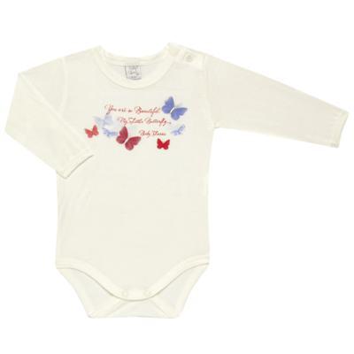 Imagem 2 do produto Body c/ Calça frufru e Faixa para bebe em viscolycra Butterflies - Baby Classic - 1621628 BODY COM MIJÃO COM FRU FRU VISCOLYCRA BUTTERFLY-RN