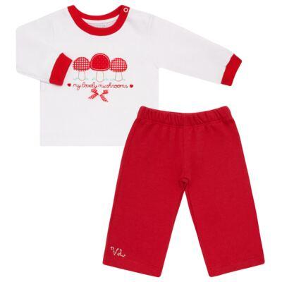 Imagem 1 do produto Blusa com Calça para bebe moletom Cogumelos - Vicky Lipe - 873274 BLUSÃO M/L C/ CALÇA MOLETON COGUMELO-M