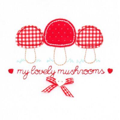 Imagem 3 do produto Blusa com Calça para bebe moletom Cogumelos - Vicky Lipe - 873274 BLUSÃO M/L C/ CALÇA MOLETON COGUMELO-M