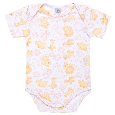 Imagem 1 do produto Body curto para bebe em high comfort Safari - Vicky Lipe - 2151161.312 BODY M/C TRANSP. SUEDINE HC ZOO-P