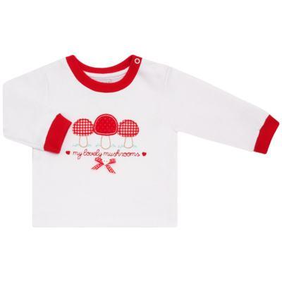 Imagem 2 do produto Blusa com Calça para bebe moletom Cogumelos - Vicky Lipe - 873274 BLUSÃO M/L C/ CALÇA MOLETON COGUMELO-G