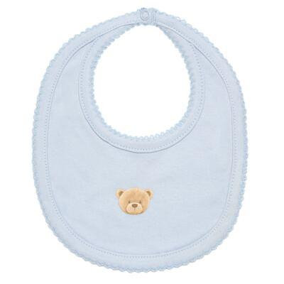 Imagem 7 do produto Body longo + Calça (mijão) + Babador + Touca em algodão egípcio com jato de cerâmica e filtro solar FPS 50 Maternity Blue Bear - Mini & Kids - BMBT1656 CONJ. BODY MIJAO BAB/TOUCA SUEDINE URSO MENINO-M