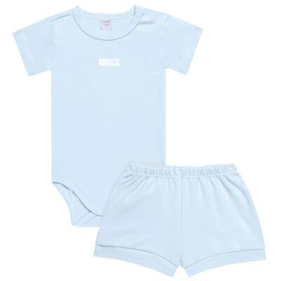 Imagem 1 do produto Body curto com Shorts em suedine Azul - Vicky Lipe