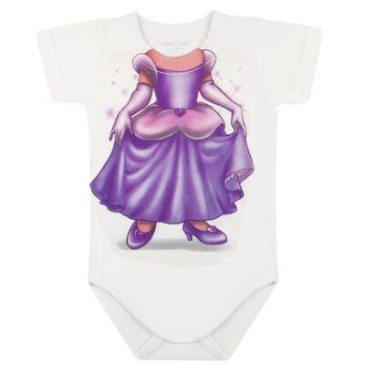 Imagem 2 do produto Body curto para bebe em malha Mini Princesa - Mini Mix - MXBSM1613 BODY CURTO EM MALHA MINI PRINCESA-P