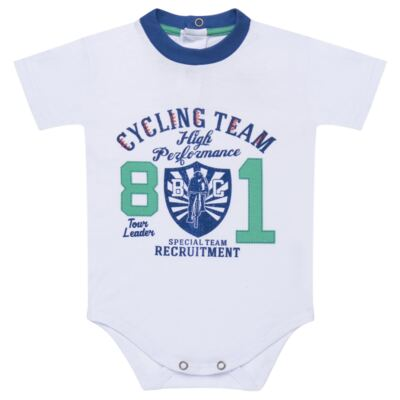 Imagem 2 do produto Body com Shorts em suedine Burnett- Baby Classic - 22441415 BODY MC C/ BERMUDA SUEDINE BICYCLE -G