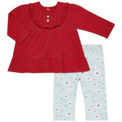 Imagem 1 do produto Bata com Legging para bebe em algodão egípcio c/ jato de cerâmica e filtro solar fps 50  Adore - Mini & Kids - CJBG0001.86 CON.BATA M/L BABAODS C/LEGGING-SUEDINE-GG
