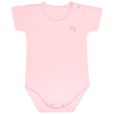 Imagem 1 do produto Body curto para bebe em Pima Cotton Supreme Rosa - Mini & Kids - BSM90 BODY MC SUEDINE ROSA BB-M