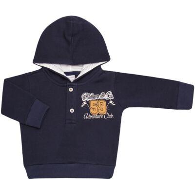 Imagem 2 do produto Blusão com capuz e Calça em moletom Wharton - Baby Classic - 59175 CONJ.BLUSÃO C/CAPUZ MOLETON SCOOTER-P