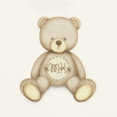Imagem 2 do produto Body curto para bebe em Pima Cotton Supreme Prime Bear Marfim - Mini & Kids - BDMC0001.65 BODY MANGA CURTA - SUEDINE-M