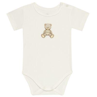 Imagem 1 do produto Body curto para bebe em Pima Cotton Supreme Prime Bear Marfim - Mini & Kids - BDMC0001.65 BODY MANGA CURTA - SUEDINE-P