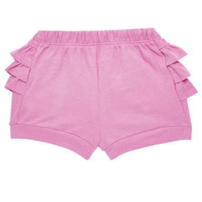 Imagem 5 do produto Body curto com Shorts para bebe em algodão egípcio c/ jato de cerâmica e filtro solar fps 50 L'hortensia- Mini & Kids - BSBA1746 CONJ. BODY MC C SHORTS SUEDINE HORTENCIAS-G