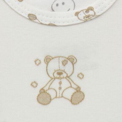 Imagem 3 do produto Body longo c/ Calça para bebe em suedine Ivory Bear - Dedeka - DDK16501/E100 Conjunto de Body Suedine Urso Bege -P