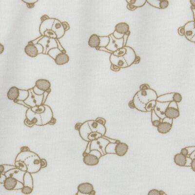 Imagem 5 do produto Body longo c/ Calça para bebe em suedine Ivory Bear - Dedeka - DDK16501/E100 Conjunto de Body Suedine Urso Bege -P