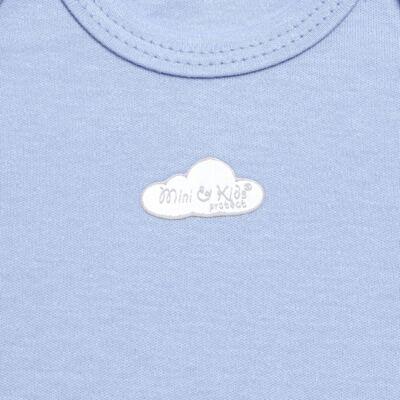 Imagem 2 do produto Body curto para bebe em suedine Baby Protect Azul - Mini & Kids - BDTC1735 BODY M/C TRANSP. SUEDINE AZUL-RN