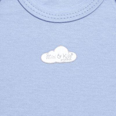 Imagem 2 do produto Body curto para bebe em suedine Baby Protect Azul - Mini & Kids - BDTC1735 BODY M/C TRANSP. SUEDINE AZUL-M