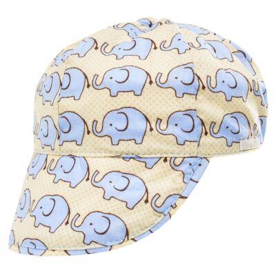 Imagem 4 do produto Conjunto de banho para bebê Little Elephant: Cobre Fralda + Boné - Roana - BSM00883005 BANHO DE SOL ELEFANTINHO BEGE-G
