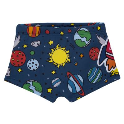 Imagem 3 do produto Conjunto de Banho Galaxy: Camiseta + Sunga - Cara de Criança - KIT 2 2578: SB2578+CCA2578 SUNGA E CAMISETA ESPACIAL-6