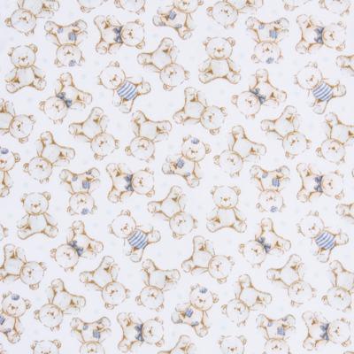 Imagem 2 do produto Macacão polo para bebe em algodão egípcio c/ jato de cerâmica Vintage Blue Bear - Mini & Classic - 3033656 MACACAO MC C/ GOLA SUEDINE URSO-M