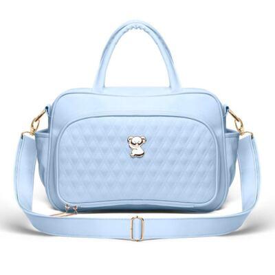 Imagem 2 do produto Bolsa maternidade para bebe Veneza + Frasqueira Térmica Milão + Kit Acessórios Golden Koala Azul - Classic for Baby Bags
