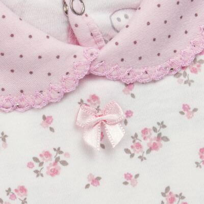 Imagem 3 do produto Body golinha c/ Calça para bebe em suedine Florzinhas - Dedeka - DDK17577/E166 CONJUNTO DE BODY SUEDINE FLORAL-G