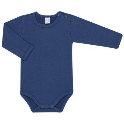 Imagem 2 do produto Body longo com Calça para bebe em algodão egípcio c/ jato de cerâmica e filtro solar fps 50 Little Boat - Mini & Kids - CS641.326 CONJ BODY ML C/ MIJAO SUEDINE MAR-RN
