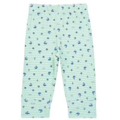 Imagem 3 do produto Body longo com Calça para bebe em algodão egípcio c/ jato de cerâmica e filtro solar fps 50 Little Boat - Mini & Kids - CS641.326 CONJ BODY ML C/ MIJAO SUEDINE MAR-RN