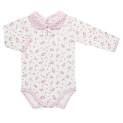 Imagem 2 do produto Body golinha c/ Calça para bebe em suedine Florzinhas - Dedeka - DDK17577/E166 CONJUNTO DE BODY SUEDINE FLORAL-RN