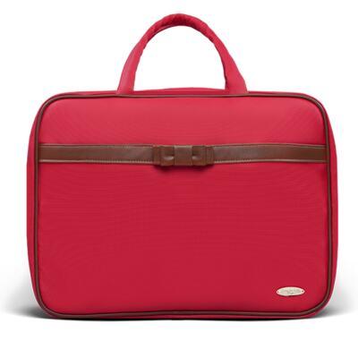 Imagem 2 do produto Kit Mala Maternidade para bebe + Bolsa Viagem Oxford + Térmica Kent + Kit Acessórios + Trocador Laço Caramel Vermelho - Classic for Baby Bags