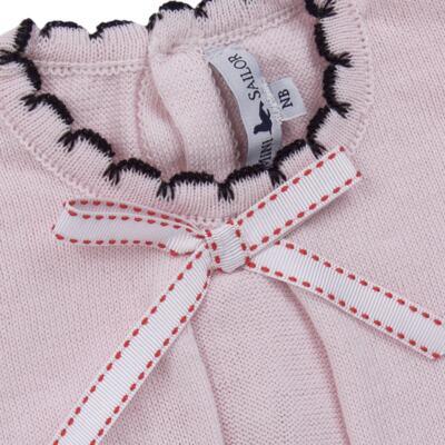 Imagem 3 do produto Vestido longo c/ Calça para bebe em tricot Anabel - Mini Sailor - 17954264 VESTIDO COM MIJAO TRICOT ROSA BEBE-6-9