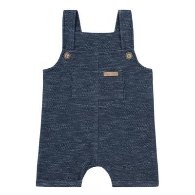 Imagem 1 do produto Jardineira para bebe em fleece Jeans Marinho - Time Kids - TK5116.MR JARDINEIRA JEANS MARINHO-M