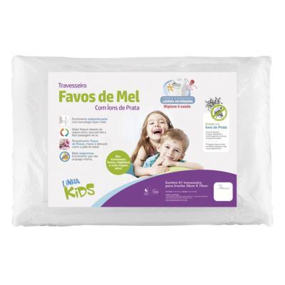 Imagem 1 do produto Travesseiro Favos de Mel Kids Antissufocante - Fibrasca