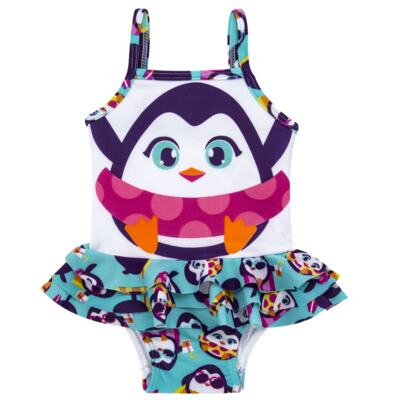 Imagem 4 do produto Conjunto de banho Pinguim: Camiseta + Maiô - Puket - KIT PK PINGUIM Camiseta + Maio Pinguim Puket-9-12