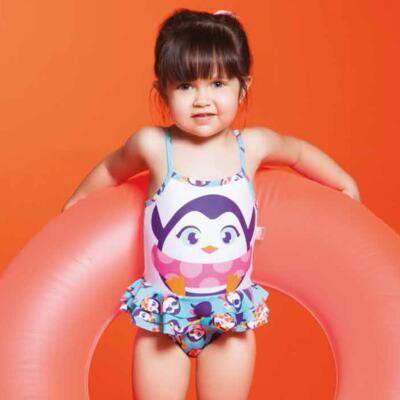 Imagem 7 do produto Conjunto de banho Pinguim: Camiseta + Maiô - Puket - KIT PK PINGUIM Camiseta + Maio Pinguim Puket-9-12