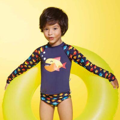 Imagem 5 do produto Conjunto de banho Piranha: Camiseta + Sunga - Puket - KIT PK PIRANHA Camiseta + Sunga Piranha Puket-6